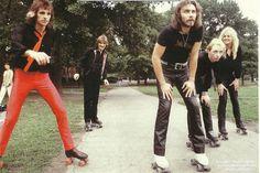 Judas Priest - Roller Skates - Central Park, NYC, NY (1981-Michael Putland).