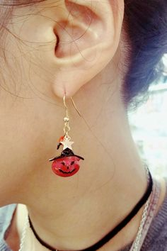 Fashion Jewelry, Trendy Jewelry, Halloween Jewelry, Pumpkin Earrings, Inexpensive Jewelry,  Jewelry on Pinterest, Jewelry Ideas