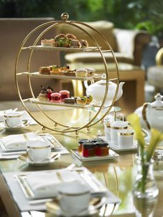 Classic Afternoon Tea at Chihuly Lounge Afternoon Tea Table Setting, Afternoon Tea Set, Tea Table Settings, English Afternoon Tea, Food Shelf, Tea Places, Sipping Tea, Catering, Tea Quotes
