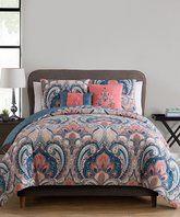 Coral Casa Real Five-Piece Reversible Comforter Set
