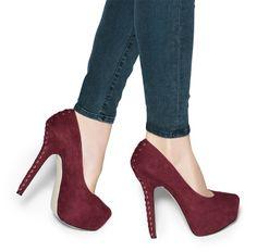 Mauve corset back heel