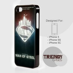 iPhone Case Man Of Steel Superman Superhero, iPhone 4/4S/4G Case, iPhone 5/5S/5C, Samsung galaxy S3/S4