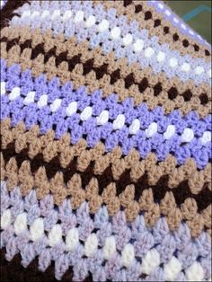 Vintage granny stripes afghan    Superfruity Crochet: Oh what a find!