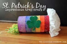#Leprechaun trap for #kids #St Patrick's Day