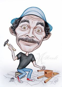 Ramon Valdez was a Mexican actor. He was born in Mexico City and participated in more than 50 Mexican films. Caricature of Don Ramon - Ramon Valdez Colored Pencils, Tatoos, Anime, Mexico, Joker, Deviantart, Fictional Characters, Lowrider, Caricatures