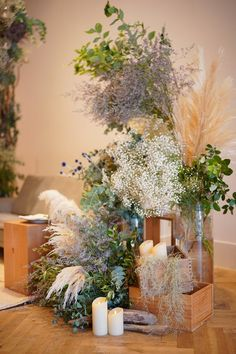 Wedding flowers boho decor ideas for 2019 Olive Branch Wedding, Wedding Reception Games, Diy Wedding Gifts, Wedding Ornament, Rustic Wedding Centerpieces, Rustic Theme, Wedding Table Settings, Table Flowers, Dried Flowers