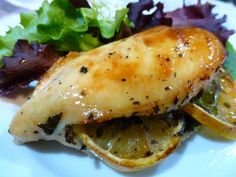 Gluten Free Dairy Free Lemon & Spinach Stuffed Chicken  No cook prep - freezer meal