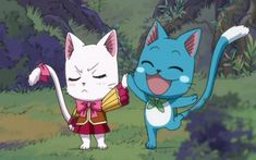 This cute anime cats list actually comes from gritty series, like Fairy tail, Inuyasha, Kiki Delivery service and more. Fairy Tail Ships, Fairy Tail Cat, Fairy Tail Happy, Fairy Tail Love, Cute Anime Cat, Kawaii Anime, Erza Scarlet, Anime Fairy, Charle Fairy Tail