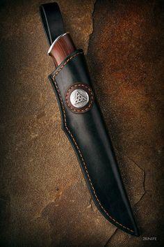 Trikselʹ (Trikselion) - Fixed blades Knife Sheath Making, Knife Making, Edc Fixed Blade Knife, Leather Art, Bushcraft, Archery, Leather Working, Vikings, Knives