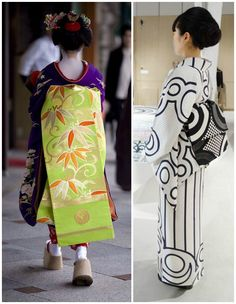 Traditional styles of wearing the Japanese Obi