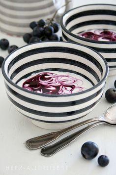 Striped bowls