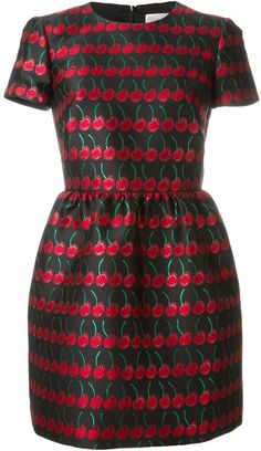 Red Valentino Cherry Jacquard Dress