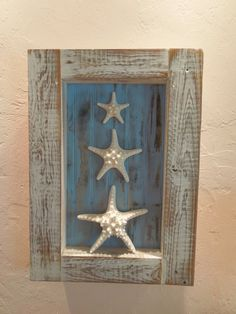 Shell Shadow Box with Starfish by GreenLifeAccessories on Etsy, $45.00
