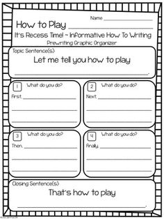 Core Writing Common Core Writing: One Topic, Three Types of Writing {Recess!}Common Core Writing: One Topic, Three Types of Writing {Recess! Procedural Writing, Paragraph Writing, Informational Writing, Writing Process, Opinion Writing, Informative Writing, Personal Narrative Writing, Personal Narratives, Essay Writing