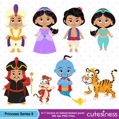 Princess Digital Clipart Princess Clipart Aladdin por Cutesiness