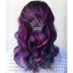 21 Fabulous Purple and Blue Hair Styles | LoveHairStyles.com ❤ liked on Polyvore featuring beauty products, haircare, hair styling tools and hair