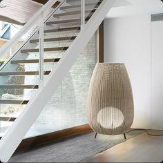 Amphora | Bover | Lámpara de suelo | Mimbre sintético