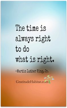 Thank you, Martin Luther King.  Your gifts to us are many. Visit us at: www.GratitudeHabitat.com