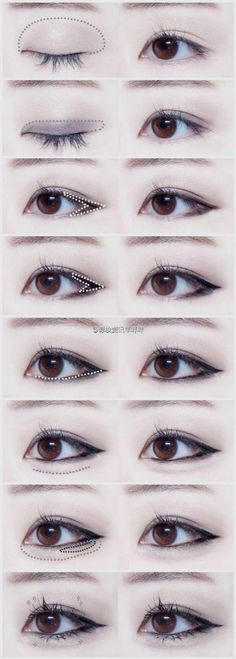 Korean makeup tutorials! When the urge to cry strikes, attempt to catch the tears by using a tissue before they ruin your makeup. This will stop tears from messing increase your tears from coming into connection with your makeup. #koreanmakeuphacks #EyelinerTutorial Korean Natural Makeup, Korean Makeup Look, Korean Makeup Tips, Korean Beauty, Eye Makeup Hooded Lids, Cat Eye Makeup, Hair Makeup, Beauty Makeup, I Love Makeup