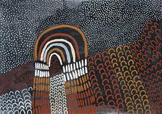 Lena Nyadbi / Jimbala Country 2000  Natural earth pigments on Belgian linen  99.5 x 140 cm