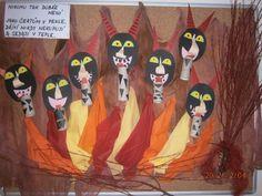 Čerti 2012 Advent, Preschool, Wreaths, Halloween, Nursery Rhymes, Halloween Labels, Bouquet, Kindergarten, Kindergartens