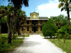 Koreshan State Historic Site, Estero, FL | In 1894 Dr. Cyrus R. Teed started a utopian, communistic settlement after the Koreshanity system, on 300 acres south of the Estero River in the Florida frontier. The Koreshans landscaped their grounds between 1894 and 1908. Their design included formal paths and lawns, and a sunken garden created in a natural ravine. The property was deeded to the State of Florida in 1961 as a public park. http://tclf.org/landscapes/koreshan-state-historic-site