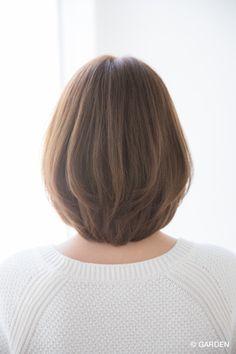 【Ramie】大人可愛いカジュアルフェミニン小顔ワンカールボブディ2016最新スタイル | GARDEN HAIR CATALOG | 原宿 表参道 銀座 美容室 ヘアサロン ガーデン Medium Hair Cuts, Short Hair Cuts For Women, Medium Hair Styles, Long Hair Styles, Short Hair Designs, Shot Hair Styles, Japanese Hairstyle, Hairstyles Haircuts, Hair Dos
