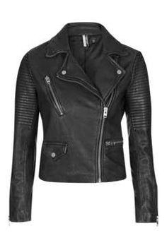 Topshop Washed Leather Biker Found on my new favorite app Dote Shopping #DoteApp #Shopping
