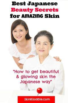 Japanese skin care and beauty tips. #japaneseskin #japanesebeauty #japanesesecrets