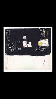 """Jean-Michel Basquiat - """"Untitled (Max Roach)"""", 1982 - Oilstick and acrylic on foamcore - 95,8 x 106,6 cm (*)"""