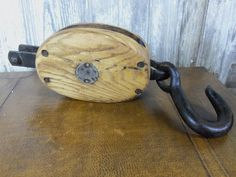 Farm Find Vintage Large Union Wooden And Steel Pulley by birchleaves on Etsy