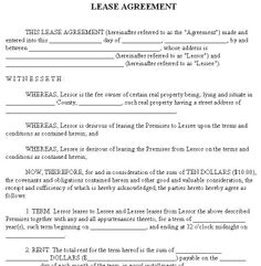 How To Type Up A Lease Agreement