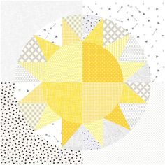 You Are My Sunshine Mini Quilt Pattern Mini Quilt Patterns, Beginner Quilt Patterns, Paper Piecing Patterns, Patchwork Ideas, Quilting Patterns, Lap Quilts, Mini Quilts, Quilting Projects, Sewing Projects