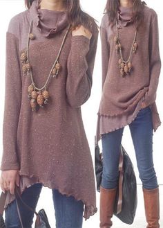 Long Sleeve Patchwork Design Cowl Neck Blouse on sale only US$34.42 now, buy cheap Long Sleeve Patchwork Design Cowl Neck Blouse at lulugal.com