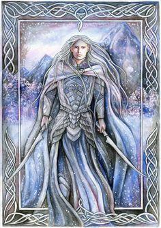 White warrior by *jankolas (Looks like Celeborn)