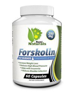 Rami Naturals® Forskolin 250mg Pure Coleus Forskohlii Root Extract Standardized Up to 20% Fat Burner by Rami Naturals® Best Forskolin Oz for Oz