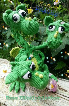 Mein Drache Triple!  Anleitung : http://ildikko-crochet.com/patterns/brutus-brian-boris-the-three-headed-dragon-amigurumi-crochet-pattern/