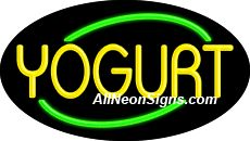 "Yogurt Flashing Neon Sign-ANSAR14320  Dimensions: 17""H x 30""L x 3""D  Custom colors ship in 5-7 business days  110 volt flasher transformer  Cool, Quiet, and Energy Efficient  Hardware & chain are included  Comes standard with 6' power cord  Indoor use only  1 Year Warranty/electrical components  1 Year Warranty/standard transformers."