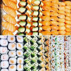 Nous vous proposons les meilleurs sushis à volonté de Paris, à consommer sans modération. Resto Paris, Cantaloupe, Fruit, Food, Essen, Meals, Yemek, Eten