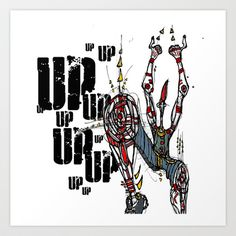Up Art Print by Maccu Maccu - $14.56