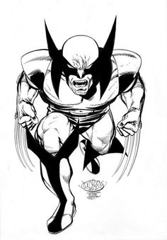 Wolverine commission by John Byrne. 2009.