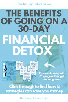Have you ever gone on a physical detox and felt the benefits of your body gettin. Money Saving Challenge, Money Saving Tips, Financial Tips, Financial Planning, Planning Budget, Managing Your Money, Budgeting Tips, Money Management, Personal Finance