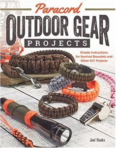 Paracord Outdoor Gear Projects: Simple Instructions for Survival Bracelets and Other DIY Projects (Fox Chapel Publishing) 12 Easy Lanyards, Keychains, and More using Parachute Cord for Ropecrafting, a book by Pepperell Company, Joel Hooks Paracord Diy, Paracord Bracelet Instructions, Paracord Belt, Paracord Bracelets, Survival Bracelets, Paracord Ideas, Paracord Supplies, Bushcraft, Parachute Cord
