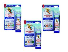 Badger SPF 35 Plus Sunscreen All Season Face Stick Unscented  065 oz 3Pack ** Click on the image for additional details.-It is an affiliate link to Amazon.