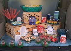 How fun is this Finding Dory birthday party! See more party ideas at CatchMyParty.com!