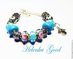 Купить Голубой ангел 84 Браслет Пандора - голубой, браслет пандора, модный браслет