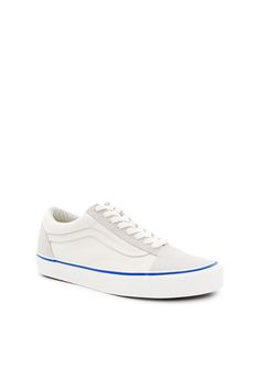 Vans Vault, OG Old Skool LX Enjoy free ground shipping on all full price Vans, Vans Vault, and Vans for OC products with promo code FREESHIP. Sale items do not apply., Unisex US men's sizing, Leather logo side stripes, Lace-up front, Contrast foxing stripe, Canvas and suede upper, Canvas lining, Original waffle rubber outsole, Imported