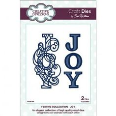 REALLY WANT!!!!!!!!!!!!!               Craft Dies by Sue Wilson - Festive Collection 2014 - Joy Die (CED3003)