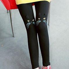 Women's Cat Embroidery Leggings – USD $ 9.99
