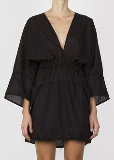 nomad dress - black